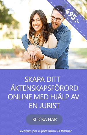 Skriv ditt äktenskapsförord online