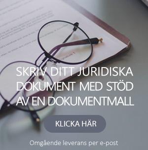 Skriv ditt juridiska dokument med hjälp av en dokumentmall
