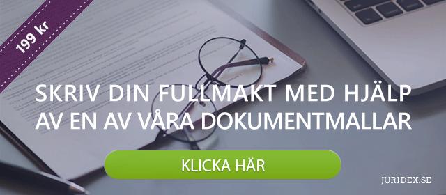 Skriv din fullmakt med en dokumentmall