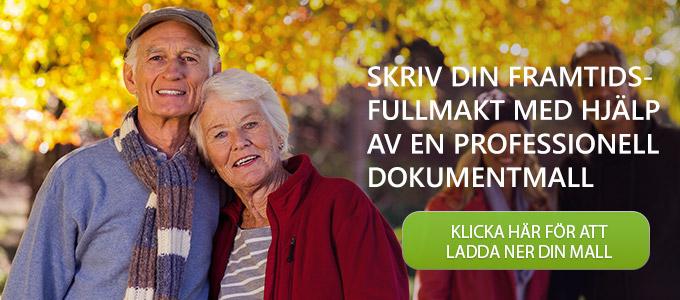 Ett äldre par som ska ladda ner en mall för att skriva en framtidsfullmakt