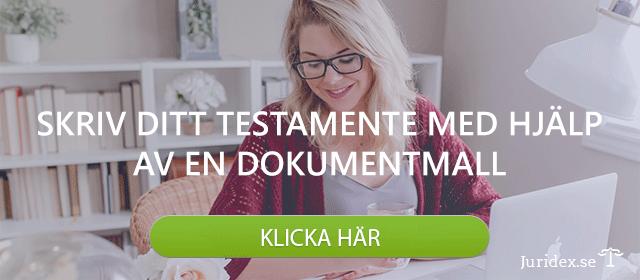 Skriv testamente med hjälp av dokumentmall