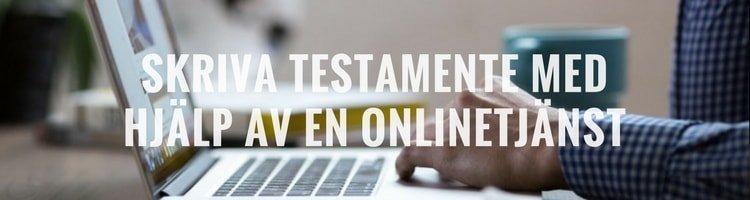 Skriva testamente online