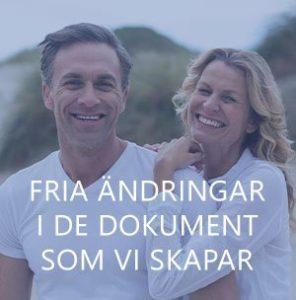 Par som gjort ändringar i sitt juridiska dokument